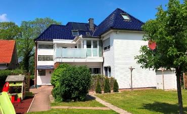 Die Gartenanlage der Villa Strandgut